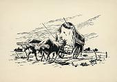 view Uruguayan Cart Drawn by Oxen n.d. Print digital asset number 1