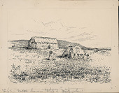 view Easter Island Houses Built of Bulrushes n.d. Drawing digital asset number 1