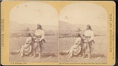 """view """"Young Apache Warrior and Squaw, near Camp Apache, Arizona"""" digital asset number 1"""