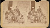 view Cheyenne prisoners on the Dodge City, Kansas courthouse steps digital asset number 1