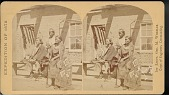 view Navaho woman and boys in front of the Navaho agency quarters digital asset number 1