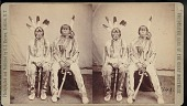 """view """"Brule chiefs (Sioux) in council costume were in Custer's Massacre"""" digital asset number 1"""