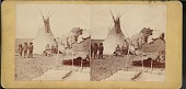 """view """"Yanktonite (Sioux) tepees. Fort Rice, D.T."""" digital asset number 1"""