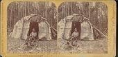 view Chippewa woman in doorway of wigwam digital asset number 1