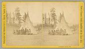 view Dakota prisoners, Custer's battle flag, and officers digital asset number 1