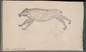 view Anonymous Arikara drawing of bear digital asset: Anonymous Arikara drawing of bear