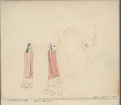 view Anonymous Cheyenne drawing of man and woman, probably courting digital asset: Anonymous Cheyenne drawing of man and woman, probably courting