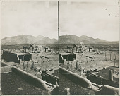 view View of Pueblo and Mountain n.d digital asset number 1