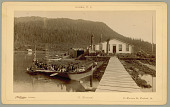 view Chief Shakes' Canoe at Fort Wrangell, 1886 or 1887 digital asset number 1