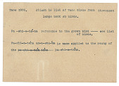 view MS 2087 Taos vocabulary and grammatical constructions digital asset: Taos vocabulary and grammatical constructions