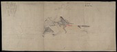 view Flying Out drawings of Cheyenne battles and Silver Horn drawing of Kiowa medicine lodge ceremony, ca. 1904 digital asset number 1
