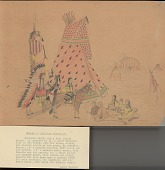 view Charles Murphy drawing of Cheyenne tipi design for family group digital asset: Charles Murphy drawing of Cheyenne tipi design for family group
