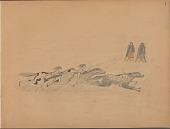 view Charles Murphy drawing of horse racing scene digital asset: Charles Murphy drawing of horse racing scene