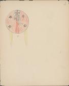 view Silver Horn drawing of Kiowa shield design digital asset: Silver Horn drawing of Kiowa shield design