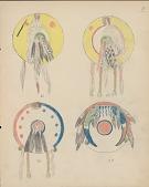 view Silver Horn drawing of Kiowa shield designs digital asset: Silver Horn drawing of Kiowa shield designs
