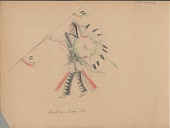 view Carl Sweezy drawing of warrior with shield and lance digital asset: Carl Sweezy drawing of warrior with shield and lance