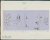 view Anonymous Assiniboine drawings of pictographs depicting a trail and camp and a diagram of a council lodge digital asset: Anonymous Assiniboine drawings of pictographs depicting a trail and camp and a diagram of a council lodge