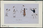view Anonymous Assiniboine drawing of scalp dance digital asset: Anonymous Assiniboine drawing of scalp dance