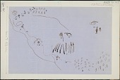 view Anonymous Assiniboine drawings of pictographs describing a battle scene digital asset: Anonymous Assiniboine drawings of pictographs describing a battle scene