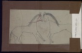 view Roan Eagle drawing of two horses digital asset: Roan Eagle drawing of two horses