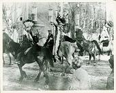 view Captain Mercer (left), head of Carlisle School, escorting four chiefs on horseback 1905 digital asset number 1