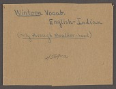 """view MS 4569-a Vocabulary of """"Wintoonan tribes"""" digital asset: Vocabulary of """"Wintoonan tribes"""""""