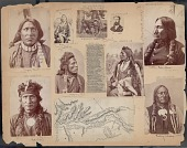 view Portrait of Red Horse, Artist, with Fur-Wrapped Braids digital asset: James E. Taylor scrapbook, page 108