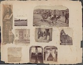 view Woman in Costume Kneeling at Altar of Mary, Inside Santa Cruz Church digital asset: James E. Taylor scrapbook, page 4