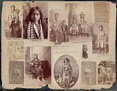 view Portrait of Woman in Partial Native Dress and Carrying Infant digital asset: James E. Taylor scrapbook, page 47