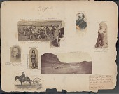 view Major John Wesley Powell (1834-1902) Survey Leader, Director Of United States Geological Survey, Founder and First Director Of Bureau of American Ethnology, in Field on Survey digital asset: James E. Taylor scrapbook, page 71