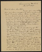view Letter from Joseph W. Cook October 8, 1887 digital asset number 1