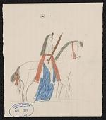 view George Bushotter drawings to accompany his work on Lakota Tetons, 1887 digital asset number 1