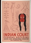 view Posters of Indian art from the Indian Court in the Federal Building at the Golden Gate International Exposition digital asset: Posters of Indian art from the Indian Court in the Federal Building at the Golden Gate International Exposition