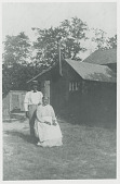 view Aunt Martha Maynes, head woman of the tribe, and son ca 1906 digital asset number 1