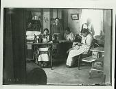 view Girls in Sewing Room of Lower Cut Meat School, Rosebud Agency, South Dakota 1897 digital asset number 1