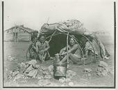 "view ""Sweat lodge, covering raised. Sioux, 1898."" 1898 digital asset number 1"