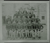 view Captain Pratt and Indian boys posed in front of building, Fort Marion, Florida Mar or Apr 1878 digital asset number 1