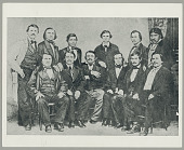 view Group of 12 men: Delegates to Washington, 1866, and members of Delaware-Cherokee Agreement, 1867 ca 1867 digital asset number 1