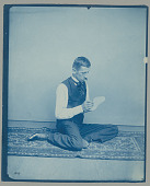 view Dr Walter J. Hoffman posing as Chippewa before 1899 digital asset number 1