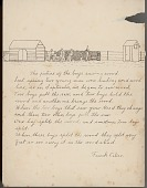 view Frank Calico drawing of and essay about sawing wood digital asset: Frank Calico drawing of and essay about sawing wood