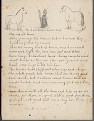 view Frank Calico drawing of and essay about horses digital asset: Frank Calico drawing of and essay about horses