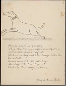 view Joseph Bear Robe drawing of and essay about the student's dog digital asset: Joseph Bear Robe drawing of and essay about the student's dog