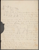 view Peter Running Horse drawing of and essay about horses digital asset: Peter Running Horse drawing of and essay about horses