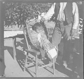 view Pomo Indian baby in cradle before 1903 digital asset number 1