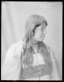 view Side view of Indian girl 1904 digital asset number 1