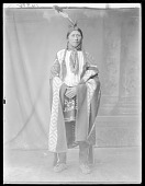 view Front view of Indian man. Oklahoma 1904 digital asset number 1