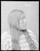view Side view of Wichita Indian woman with elk tooth dress. Oklahoma. Wichita Anadarko. 1904 digital asset number 1