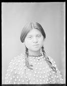 view Seneca woman, Lena Cayuga, 17 years, Seneca Indian Territory. U. S. Indian School 1904 digital asset number 1