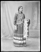 view Full length view of Potawatomi Indian. U. S. Indian School, St Louis, Missouri 1904 digital asset number 1