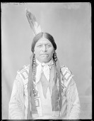 view Front view of Anasito, Taos Pueblo Indian Chief. U. S. Indian School 1904 digital asset number 1